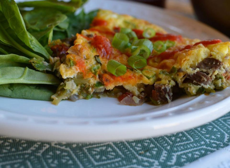 thai steak frittata