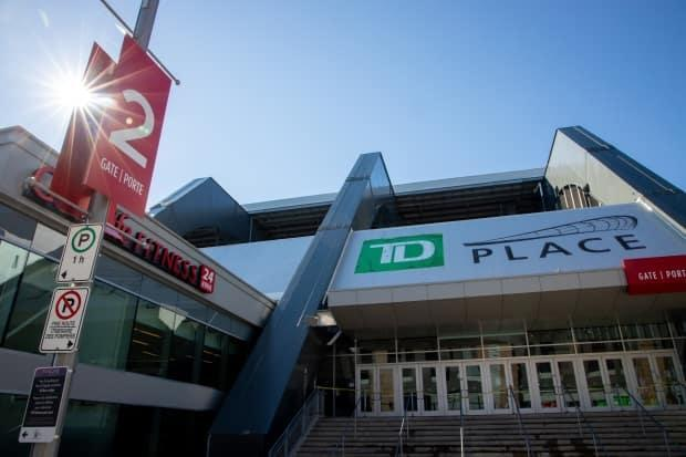 The city is now contemplating replacing the north-side stands at TD Place, including the Civic Centre arena underneath, only seven years after the refurbishment of Lansdowne. (Andrew Lee/CBC - image credit)