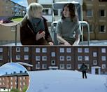 <p>In the 2008 Swedish vampire movie, Oskar is a social outcast who finds refuge with a new neighbor, an unusually pale girl of the same age. Their apartments are real ones in Lulea, Sweden. </p>