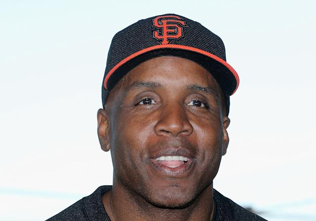 SCOTTSDALE, AZ - MARCH 10: Barry Bonds of the San Francisco Giants speaks during a press conference about his return to the organization as a special hitting coach for one week of Spring Training at Scottsdale Stadium on March 10, 2014 in Scottsdale, Arizona. (Photo by Christian Petersen/Getty Images)