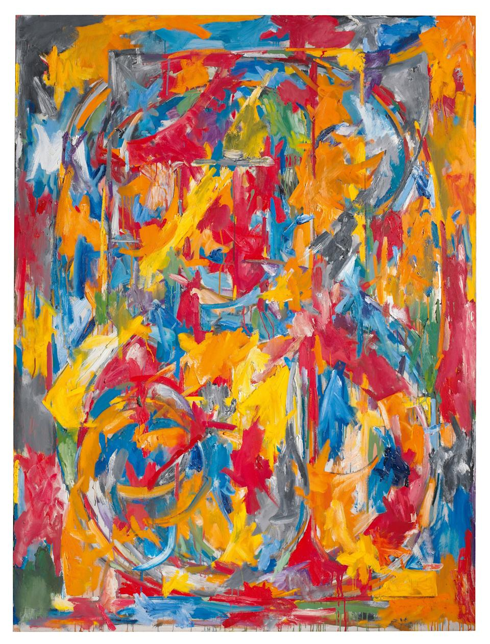 Jasper Johns, 0 through 9, 1960. Oil on canvas, 72 1/2 × 54 in. (184.2 × 137.2 cm). Private collection.