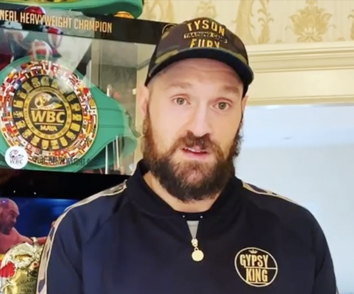 Tyson Fury tells the BBC to remove him from the Sports Personality of the Year shortlist (Tyson Fury / Instagram)
