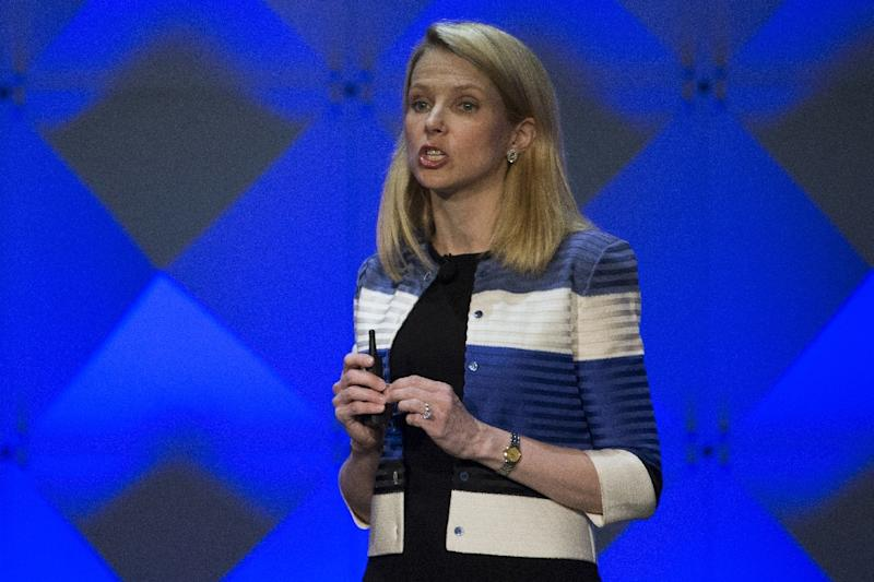 Marissa Mayer is expected to remain with Yahoo's core business, which is being bought by Verizon (AFP Photo/Stephen Lam)