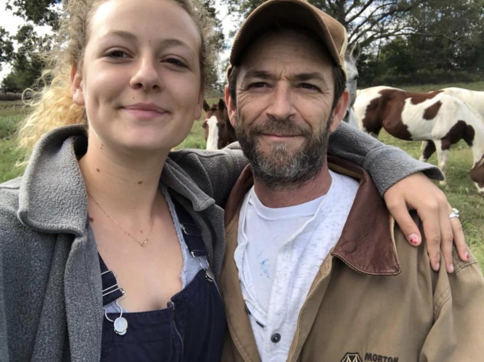 Luke Perry with his 18-year-old daughter, Sophie. (Photo: Sophia Perry via Instagram)