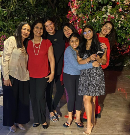 Charu Asopa With In-Laws