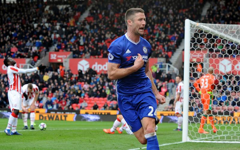 Cahill scored Chelsea's winner with three minutes to go - Copyright 2017 The Associated Press. All rights reserved.