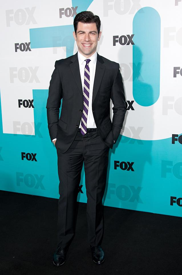 "Max Greenfield (""New Girl"") attends the Fox 2012 Upfronts Post-Show Party on May 14, 2012 in New York City."