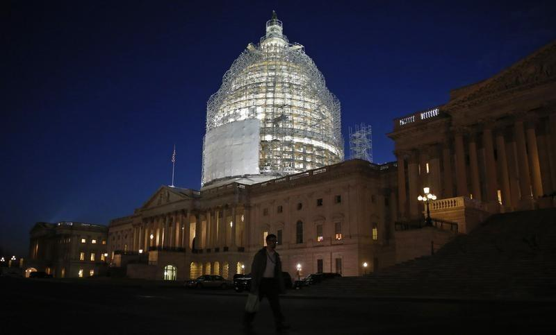 The U.S. Capitol building is seen before President Barack Obama arrives to deliver his State of the Union address on Capitol Hill in Washington