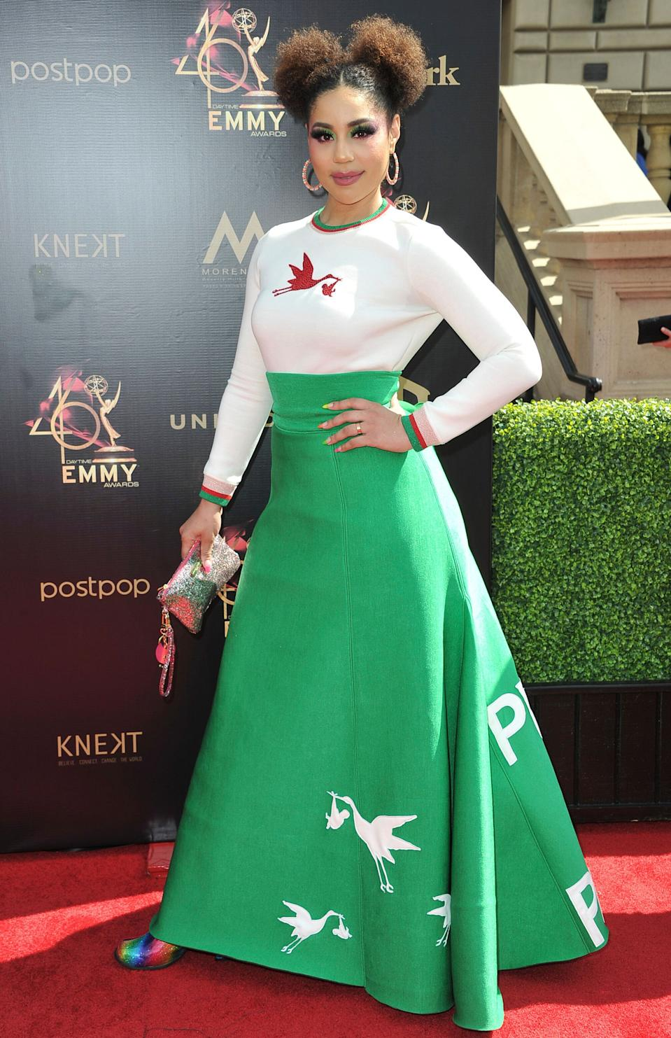 Joy Villa arrives at the 46th annual Daytime Emmy Awards at the Pasadena Civic Center on Sunday, May 5, 2019, in Pasadena, Calif. (Photo by Richard Shotwell/Invision/AP)
