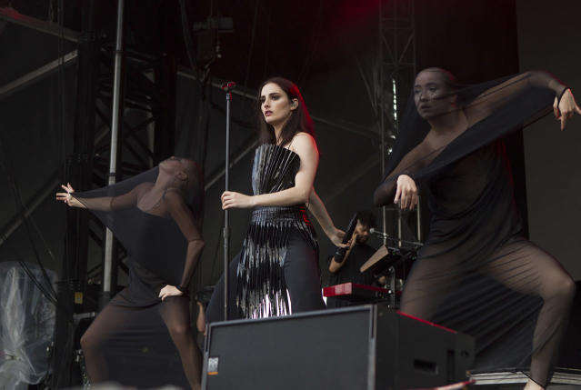 <p>Banks performs on Day 2 of the 2017 Firefly Music Festival at The Woodlands on Friday, June 16, 2017, in Dover, Del. (Photo by Owen Sweeney/Invision/AP) </p>