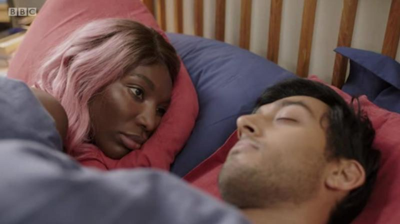 Arabella and Zain in BBC3's I May Destroy You. (Photo: BBC3 / iPlayer)
