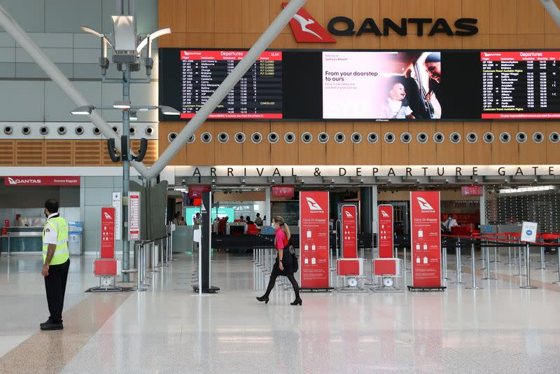 FILE PHOTO: A quiet Sydney Airport is seen in the wake of a COVID-19 outbreak in Sydney