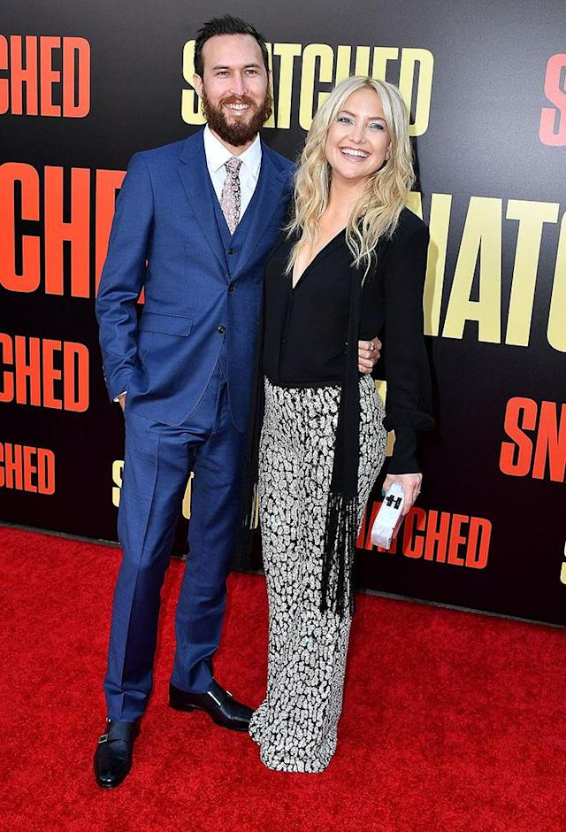 Kate Hudson made her red carpet debut with Danny Fujikawa at the premiere of <em>Snatched</em> on May 10. (Photo: Steve Granitz/WireImage)