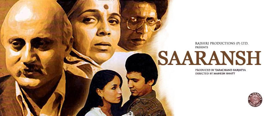 <p>Directed by Mahesh Bhatt, 'Saaransh', was the debut movie of Anupam Kher as a lead actor. He played the role of a sexagenarian while in his real age at that time was just 28. Another interesting fact is that it was the first, and the only movie, of Sooraj Barjatya as an assistant director. Later he directed Kher in blockbusters such as 'Hum Aapke Hain Koun' and 'Prem Ratan Dhan Paayo'. </p>