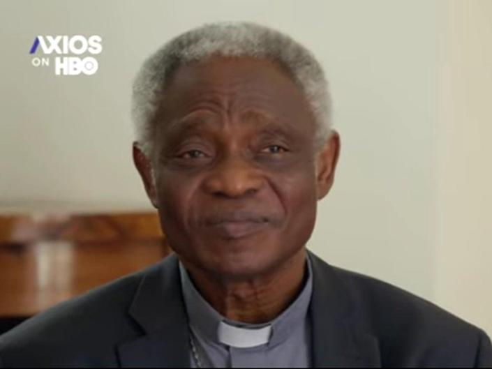 Cardinal Peter Turkson, a close aide of Pope Francis, said the denial of Communion should only be reserved for 'extreme cases' (Screengrab/Video)