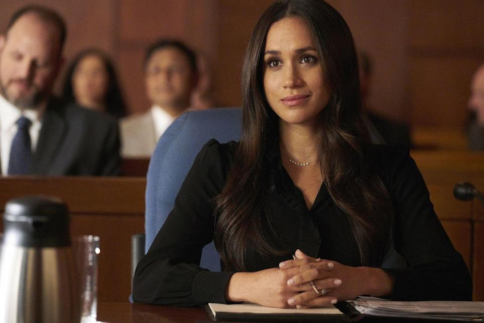 <p>Meghan acts as Rachel Zane, one of the main characters on the legal drama <em>Suits</em>.</p>