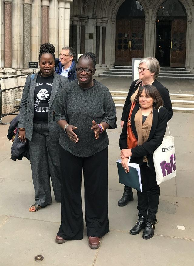 Ella's mother Rosamund Kissi-Debrah speaking outside London's High Court when the 2014 inquest ruling was quashed (Sam Tobin/PA)