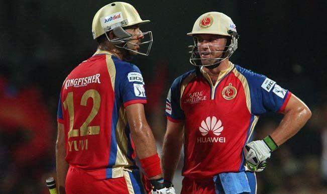 Yuvraj shared a record 132-run fourth wicket partnership with AB de Villiers in the 2014 IPL