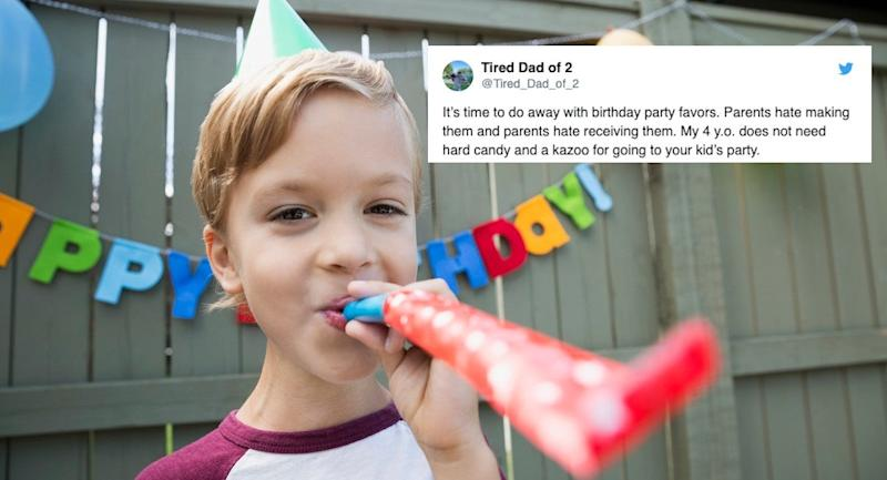 The Funniest Dad Tweet of the Week Explains Why Party Favors