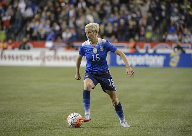 <p>One of the most well-known players on the U.S. Women's National Team, Rapinoe will be competing in her second Olympics. She came out publicly in 2012 and is engaged to American singer Sera Cahoone. Rapinoe is a vocal advocate for a number of LGBT organizations. (Getty) </p>