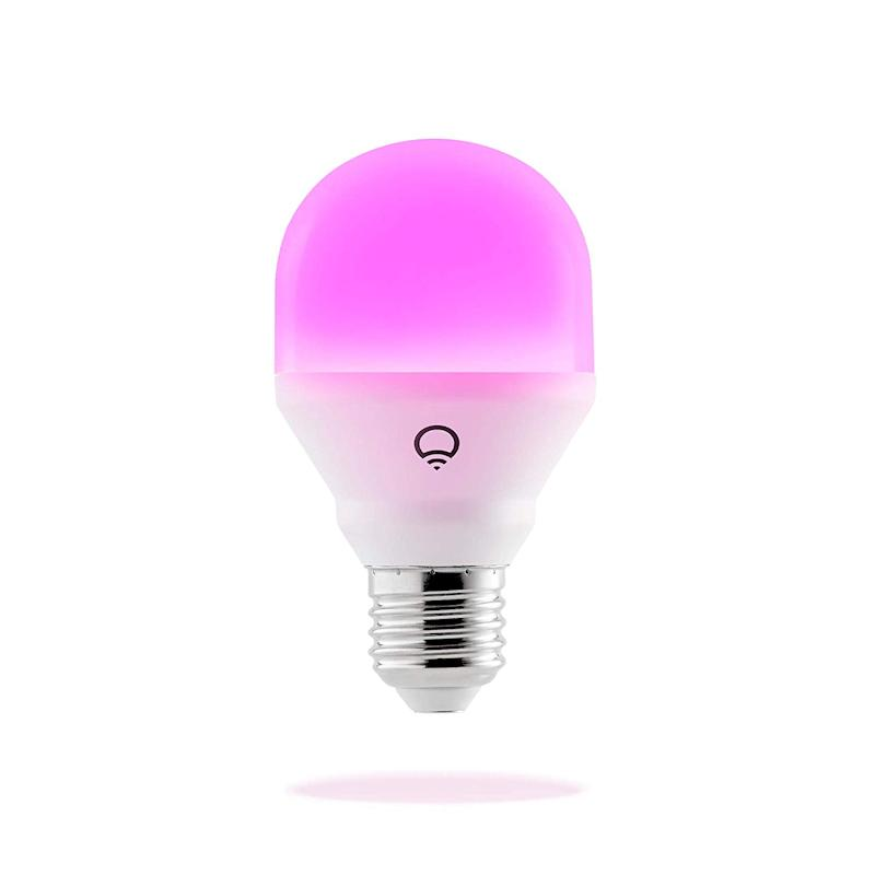 LIFX smart light bulb offers color change to help with autism sensory needs.