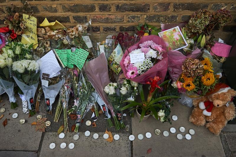 Floral tributes in honour of slain French au-pair Sophie Lionnet in 2017