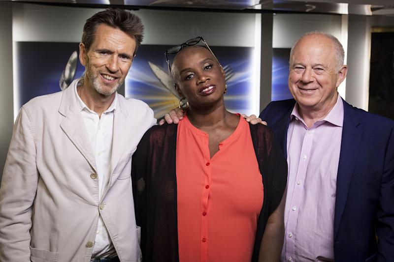 New look: Oliver Peyton, Andi Oliver and Matthew Fort: BBC/Optomen TV/Andrew Hayes-Watkins