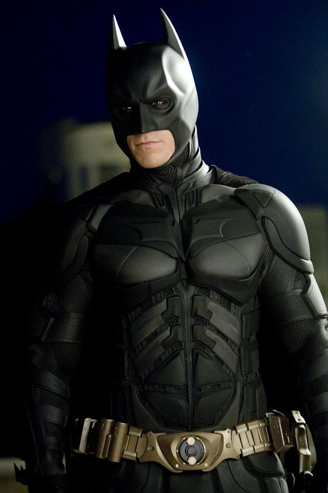 "<a href=""http://movies.yahoo.com/movie/contributor/1800018597"">Christian Bale</a> as Batman in Warner Bros. Pictures' <a href=""http://movies.yahoo.com/movie/1809271891/info"">The Dark Knight</a> - 2008"