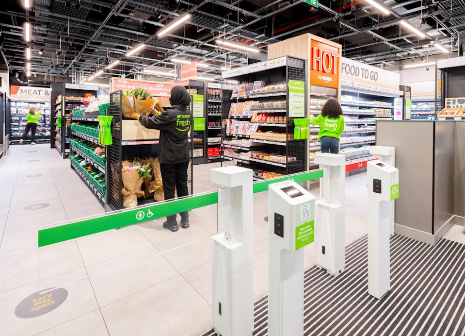 <p>Three Amazon Fresh grocery stores have opened in London</p> (Amazon)