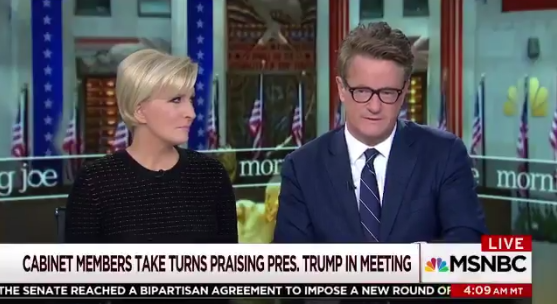 Mika Brzezinski and Joe Scarborough (Screengrab via MSNBC)