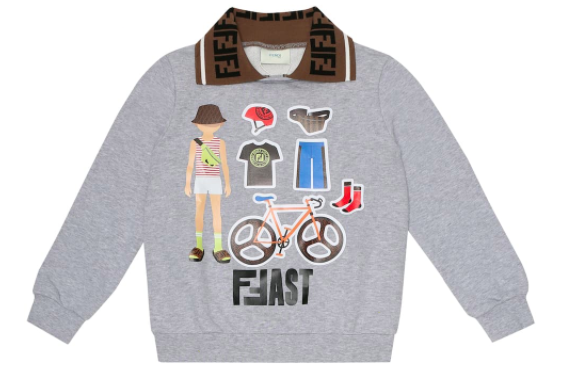 Fendi Kids printed cotton-jersey T-shirt, S$297 (was S$495), 40% off. PHOTO: Mytheresa