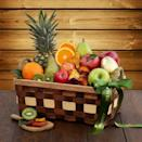 """<p>thefruitcompany.com</p><p><strong>$79.00</strong></p><p><a href=""""https://go.redirectingat.com?id=74968X1596630&url=https%3A%2F%2Fwww.thefruitcompany.com%2Fsimply-fruit-basket%3Fgclid%3DCj0KCQjwg7KJBhDyARIsAHrAXaG6MT65_OpJnvhccdvHG_GBeznlBfuWWt70599UrI8ZVPuvHUvfOU0aAq6TEALw_wcB&sref=https%3A%2F%2Fwww.thepioneerwoman.com%2Fholidays-celebrations%2Fgifts%2Fg37433020%2Ffood-gift-baskets%2F"""" rel=""""nofollow noopener"""" target=""""_blank"""" data-ylk=""""slk:Shop Now"""" class=""""link rapid-noclick-resp"""">Shop Now</a></p><p>Sometimes there's nothing better than a basket full of fresh fruit. This one features seasonal picks like apples, pears, oranges, pineapple, and kiwi, plus an irresistible dried fruit medley.</p>"""