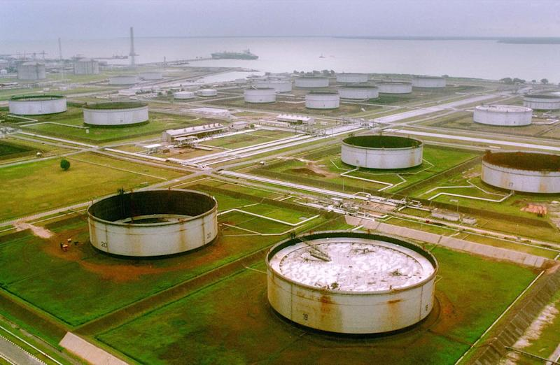A Shell owned pumping site in the Niger Delta region of Nigeria is shown March 27, 2001.