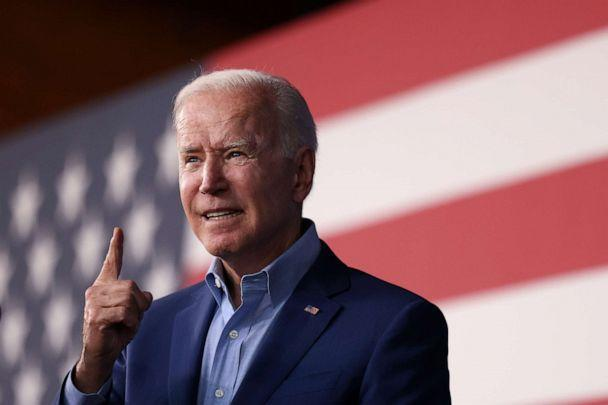 PHOTO: U.S. President Joe Biden participates in a campaign event with candidate for Governor of Virginia Terry McAuliffe, at Lubber Run Park in Arlington, Va., July 23, 2021. (Evelyn Hockstein/Reuters)