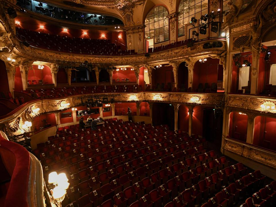 <p>Theatres and venues haven't been able to open fully for over a year</p> (POOL/AFP via Getty Images)