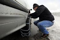 "<p>Many states don't require passenger vehicles to use chains for winter driving. And generally, our experts agree that winter tires outperform chains on most surfaces. But in some states, where the majority of the residents live in a dry hot climate, you might need to carry chains into the mountains—even if you have mud and snow rated truck tires or even proper winter tires. ""Most people wait until the last possible minute to chain up,"" says Debogorski. ""I get it, they're inconvenient. But if you see people stuck or spinning their tires, put on your chains."" He admits that even he was resistant to putting them on in his younger days. He says, ""They'd tell us to chain up and I wouldn't. I made it up the mountain because the guys using the chains would chew up the snow and give me the traction, not because I was the better driver."" He advises winter drivers to use a designated safe area, like an official vehicle chain-up area to install your chains. But be sure to practice putting them on in your driveway once or twice—so the process will be smooth and easy in the field. Foust cautions against cheap chains that don't cover the whole tread in an ""X"" or ""Z"" pattern. ""If the chains are the type that only go across the tread linearly, they have a tendency to skate sideways across the road,"" says Foust. ""I've seen cars literally track on ice sideways at a near dead stop because they were skating on the chains."" </p>"