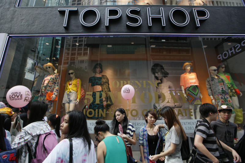 UK's Topshop opens in high-rent Hong Kong