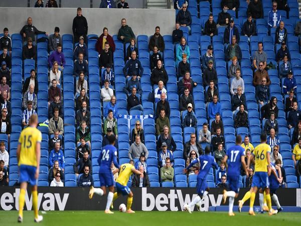 Fans returns to Amex stadium during pre-season friendly match between Chelsea and Brighton. (Photo/ Premier League Twitter)