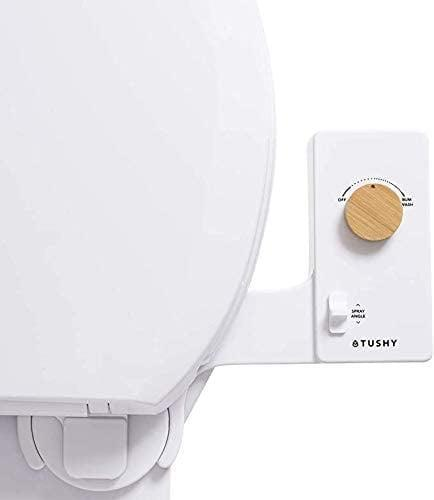 <p>This model of <span>Tushy Classic 3.0 Bidet Toilet-Seat Attachment</span> ($99) is thinner than the original classic versions, seen here with a bamboo knob. All the 3.0 models automatically self-clean the spray nozzle between each use.</p>