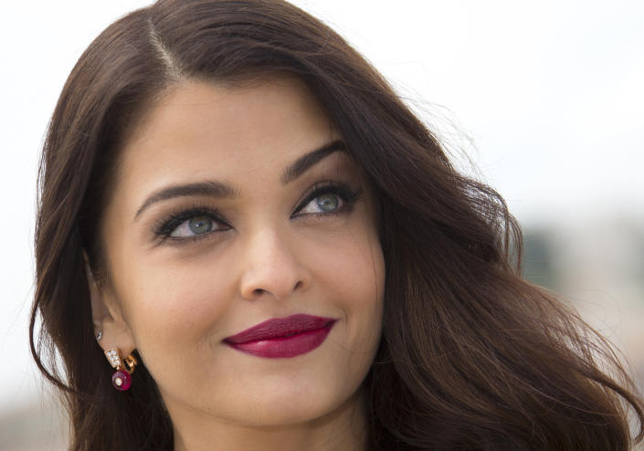 """Actress Aishwarya Rai Bachchan poses during a photocall for the film """"Jazbaa"""" at the 68th Cannes Film Festival in Cannes, southern France, May 19, 2015. REUTERS/Yves Herman"""