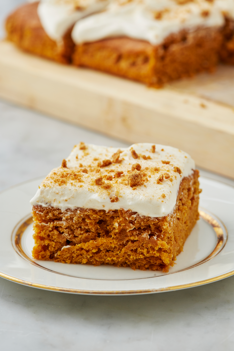 """<p>I really need you to believe us when we say we are obsessed with this cake. It's easily one of our favorite <a href=""""https://www.delish.com/cooking/g720/beyond-pie-pumpkin-desserts/"""" rel=""""nofollow noopener"""" target=""""_blank"""" data-ylk=""""slk:pumpkin desserts"""" class=""""link rapid-noclick-resp"""">pumpkin desserts</a> and we aren't just saying that.<br></p><p>Get the recipe from <a href=""""https://www.delish.com/cooking/recipe-ideas/a28413646/easy-pumpkin-cake-recipe/"""" rel=""""nofollow noopener"""" target=""""_blank"""" data-ylk=""""slk:Delish"""" class=""""link rapid-noclick-resp"""">Delish</a>.</p>"""