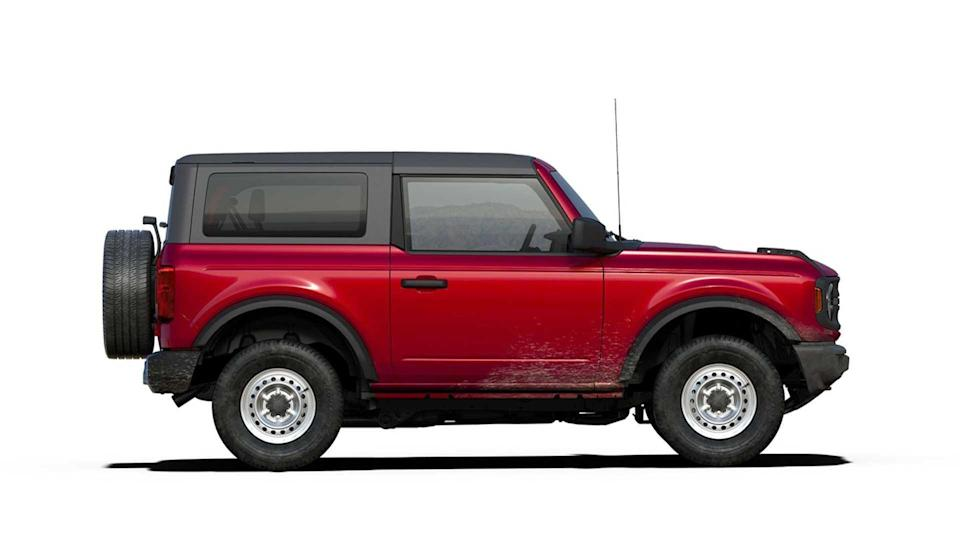 2021 Ford Bronco Base in Rapid Red