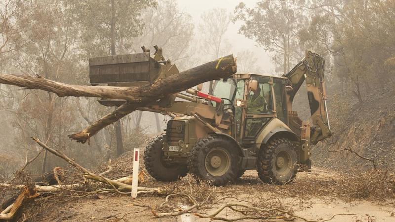 The ADF cleared fallen trees and transported fire assessors through fire-ravaged parts of Victoria
