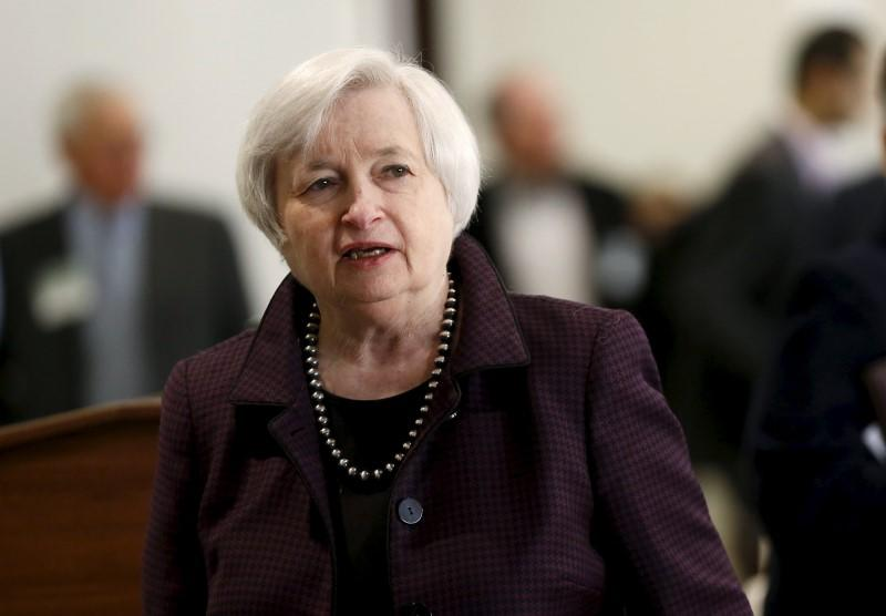 U.S. Federal Reserve Chair Janet Yellen arrives for a luncheon at the Federal Reserve in San Francisco, California