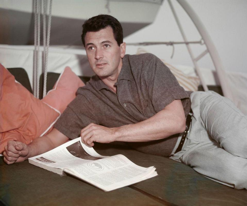 <p>Hudson landed his first leading role in Douglas Sirk's <em>Magnificent Obsession</em> in 1954, playing a wealthy playboy out for redemption. The film was a big success, launching the actor into Hollywood stardom.</p>