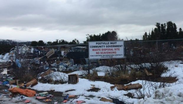 A landfill in Postville, Nunatsiavut, in Newfoundland and Labrador. An environmental report on waste management in the Arctic says all of Canada's Inuit communities are struggling with poor infrastructure for dealing with garbage.