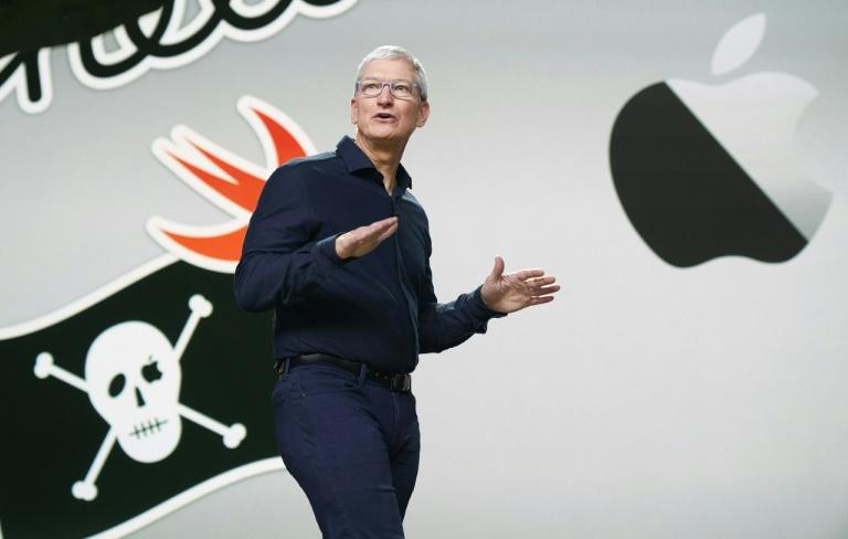 Apple CEO Tim Cook kicks off the tech giant's developer conference which was being held online only as a result of the COVID-19 pandemic (AFP Photo/Handout)