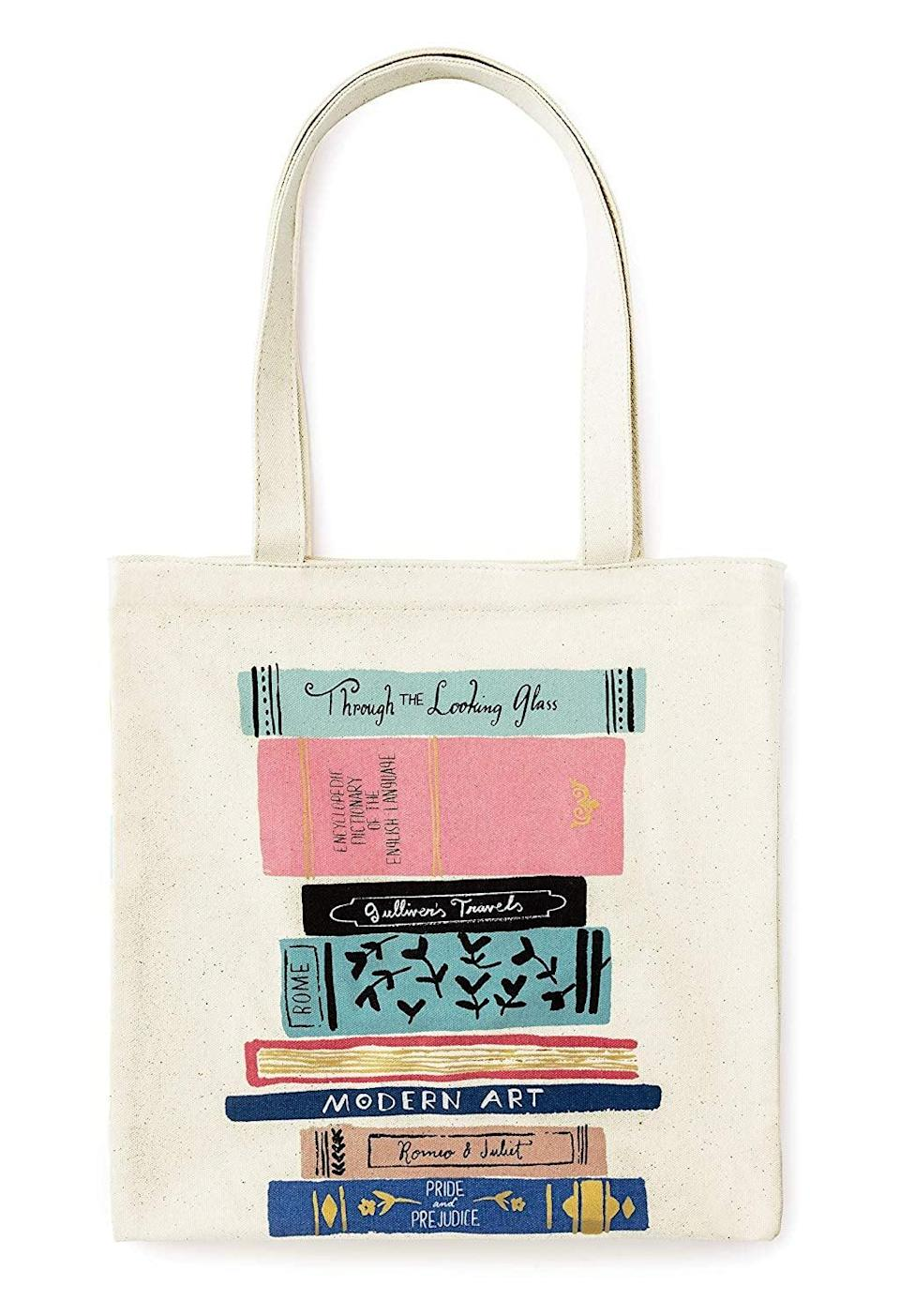 <p>This adorable <span>Kate Spade New York Canvas Book Tote</span> ($28, originally $34) will quickly become your everyday bag.</p>