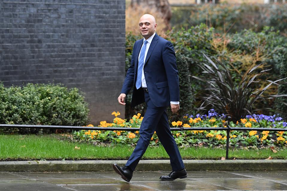 Chancellor of the Exchequer Sajid Javid arriving in Downing Street, London, as Prime Minister Boris Johnson reshuffles his Cabinet.
