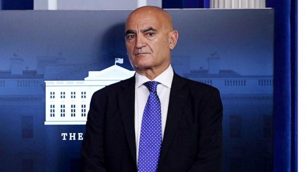PHOTO: Dr. Moncef Slaoui attends a press confernce in the Brady Press Briefing Room at the White House in Washington, Sept. 18, 2020. (Saul Loeb/AFP via Getty Images, FILE)
